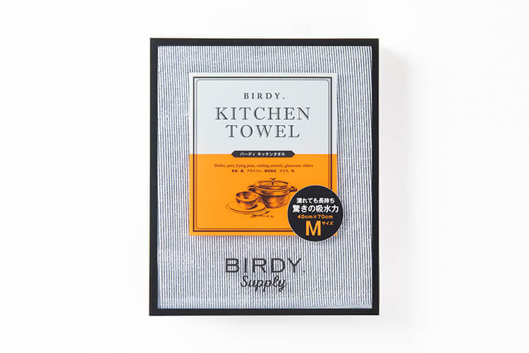 BIRDY. KITCHEN TOWEL/GLASS TOWELのパッケージデザイン