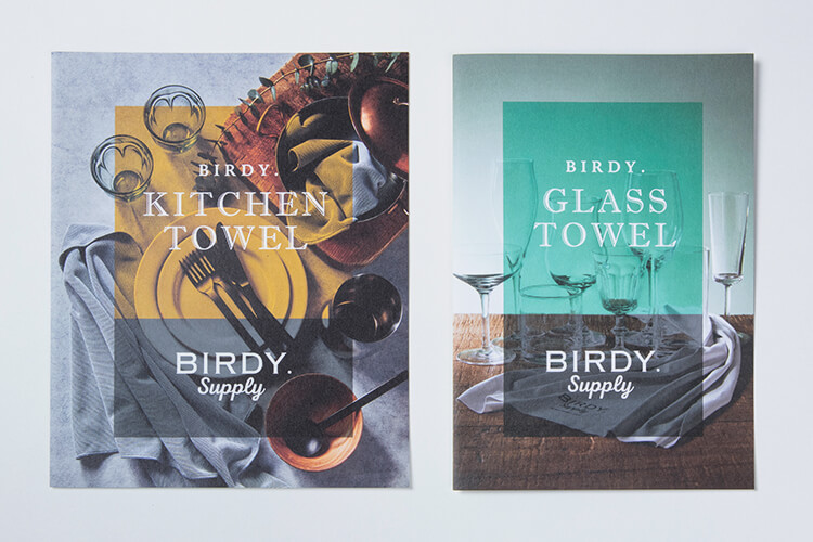 BIRDY. TOWEL CATALOGのデザイン
