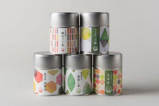 お茶缶ギフトのパッケージデザイン