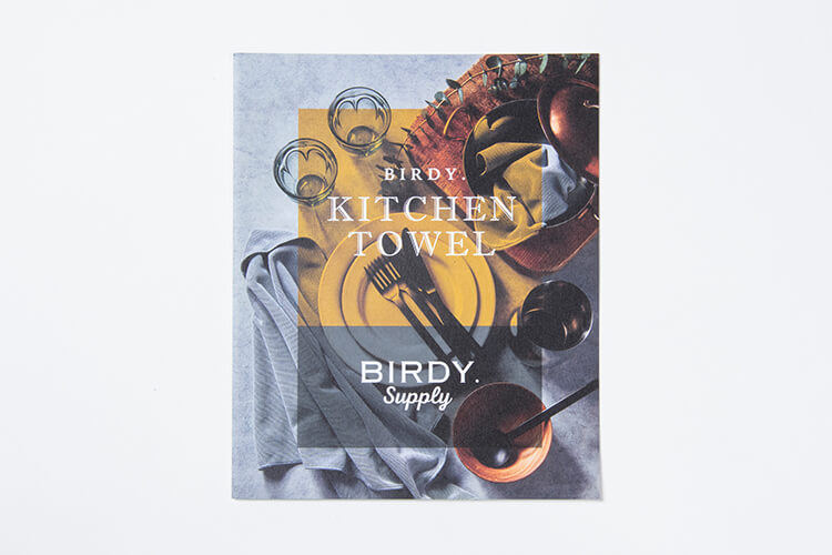 BIRDY. TOWEL CATALOGのデザイン