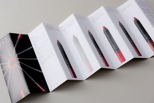 INTRODUCING NEW SATIN LIP PENCILのグラフィックデザイン